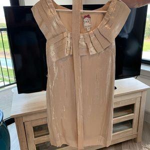 Dress. Size 4. Gold/rose-gold. Yoana Baraschi.